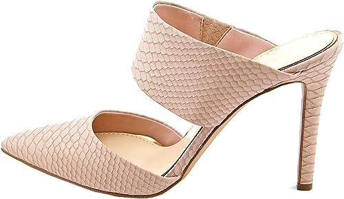 Calaier mujer Cavisit Bloquear 10CM Sintético Ponerse Sandalias de vestir zapatos