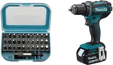 Makita DDF482RFJ drill Negro, Azul 1900 RPM 1,5 kg - Taladro eléctrico + Makita P-73374 punta de destornillador 31 pieza(s)
