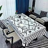 Mantel Lavable Estilo Bohemio, Mantel Rectangular a Prueba de Aceite, Apto para Cocina, Mesa de Centro, Comedor M-13 140x160cm