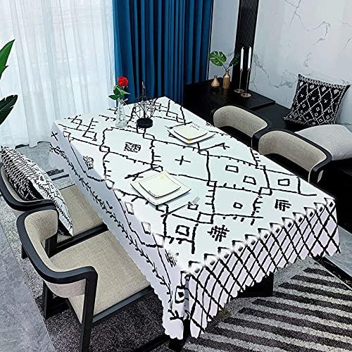 RHoet Mantel Impermeable Boda Fiesta de cumpleaños Mantel Rectangular Mantel Manteca Cubierta casera Comedor Mesa de té decoración Manteles (Color : 15, Specification : 140x200cm)