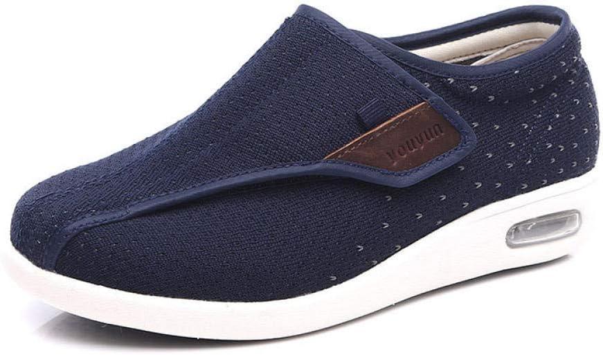 B/H Sandalias Diabéticas,Zapatos para pie diabético, Zapatos de enfermería postoperatorios agrandados y ensanchados-Blue_40,Zapatos ortopédicos Ajustables