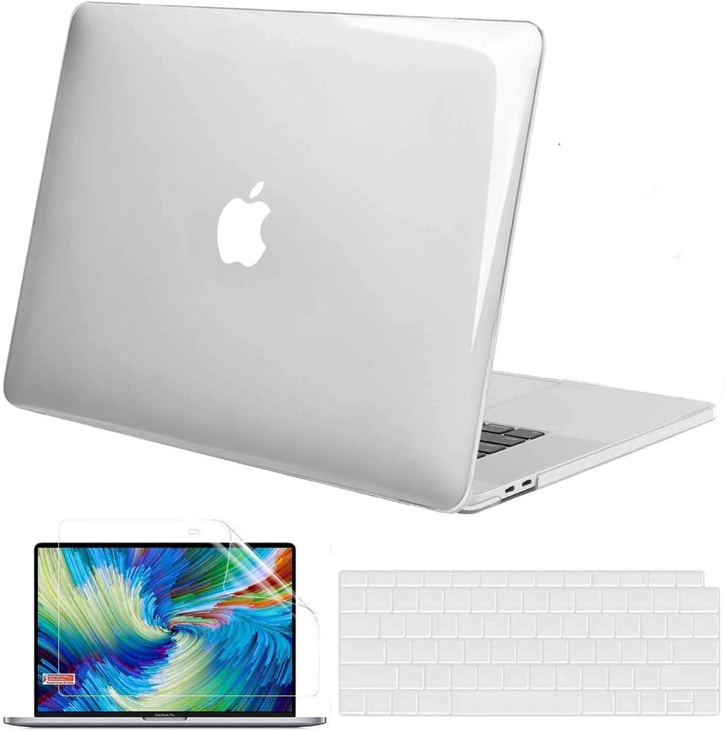 GVTECH Para MacBook Pro 13 pulgadas Crystal Clear Case 2016-2020 (A2338 M1/A2289/A2251/A2159/A1706/A1989), cubierta protectora de plástico duro cubierta y cubierta de teclado y teclado para Pr