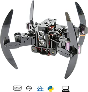 Adeept Quadruped Robot Kit Compatible with Arduino, Infrared Remote Control and Python APP, Spider Walking Crawling Robot, Self-stabilizing Based on MPU6050 Gyro Sensor, STEAM Robotics Kit with PDF Manual