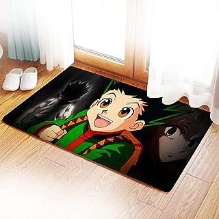 玄关地垫 地毯 室外 屋内 动漫 时尚 门垫 除泥 猎人×猎人地垫 防滑 可洗 地暖适用 50*80厘米 动漫图案 业务用 家庭用 办公室用 -Photo_Color_50X80CM