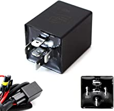 iJDMTOY (1) 10-Second Time Delay Relay Module, 5-Pin 12V 30A SPDT, For Automotive Lighting