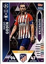 2018-19 Topps UEFA Champions League Match Attax Superstars #SU3 Diego Godin Club Atletico De Madrid Official Futbol Soccer Card