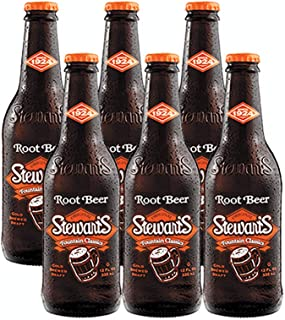 Sponsored Ad - Stewarts Original Root Beer Soda 12 Oz Glass Bottle (Pack of 6, Total of 72 Oz)