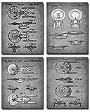 Wall Art Star Trek Patent Poster Prints Set von 4 A4 (21 cm