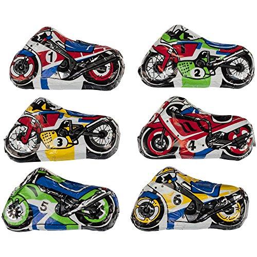 Motorrad 6er Set aus Edelvollmilch-Schokolade 6 x 15g