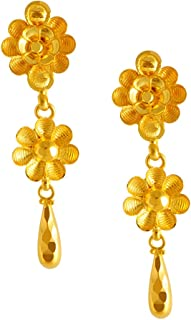 P.C. Chandra Jewellers 22KT Yellow Gold Stud Earrings for Women