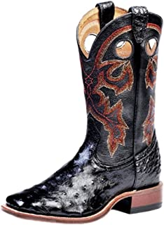 American Boots - Cowboy Exotic (Ostrich) BO-4505-65-E (Normal Walking) - Men - Black