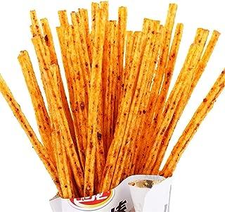 2 Pack Weilong Latiao, Mala Xiangla xiaolabang 卫龙 辣条 卫龙辣条 小辣棒 香辣 麻辣 Chinese Special Snack Food: Wei Long Series Spicy Gluten (50gx2,100g) (50g2packs)