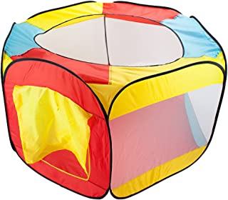 Imagination Generation Hexagon Pop Up Ball Pit Tent with Mesh Netting and Carrying Case