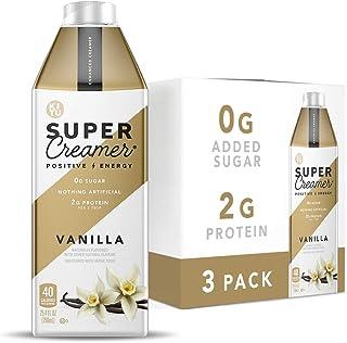 Kitu Super Creamer, SugarFree Coffee Creamer (0g Sugar, 2g Protein, 40 Calories) [Vanilla] 25.4 Fl Oz, 3 Pack | Keto Coffe...
