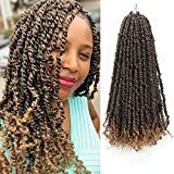 Eliza 8 Packs Pre-twisted Passion Twist Crochet Hair Ombre Blonde Hand-made Pre looped Passion Twist Crochet Hair Easy to Install Crochet Braids(20inches, 12Strands/pack,T1B/27)