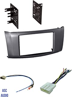 Premium Car Stereo Install Charcoal Gray Dash Kit, Wire Harness, and Antenna Adapter for Installing a Double Din Aftermarket Radio for 2013 2014 2015 2016 Nissan Sentra,
