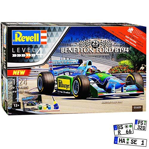 Ford Benetton B194 Michael Schumacher Weltmeister 1994 Formel 1 Komplettset 05689 Bausatz Kit 1/24 Revell Modell Auto