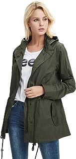 cekasoレディースアノラックジャケット軽量ドローストリングフード付きミリタリーパーカーコート US サイズ: S カラー: グリーン