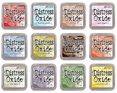Ranger Tim Holtz Bundle of 12 Distress Oxide Ink Pads - Summer 2018 Colors