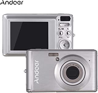 Docooler Andoer 20MP 1080P Digital Camera FHD Video Camcorder with 2pcs Rechargeable Batteries 8X Optical Zoom Anti-Shake 2.4inch LCD Screen Kids Christmas Gift