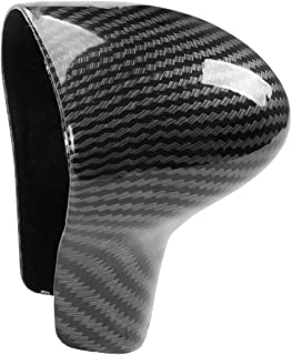 JIECHEN Sport Style Carbon Fiber Print Gear Shift Knob Cover Trim for Audi A4 2013-2016 /A5 2013-2017 /S6 2013-2015 /A6 2012-2015 /A7 201-2015 /Q5 2013-2017