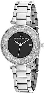 Christian Van Sant Women's Dazzle Quartz Stainless Steel Strap, Silver, 16 Casual Watch (Model: CV1211)