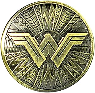 DC Wonder Woman Brass Shield Pewter Lapel Pin Novelty Accessory