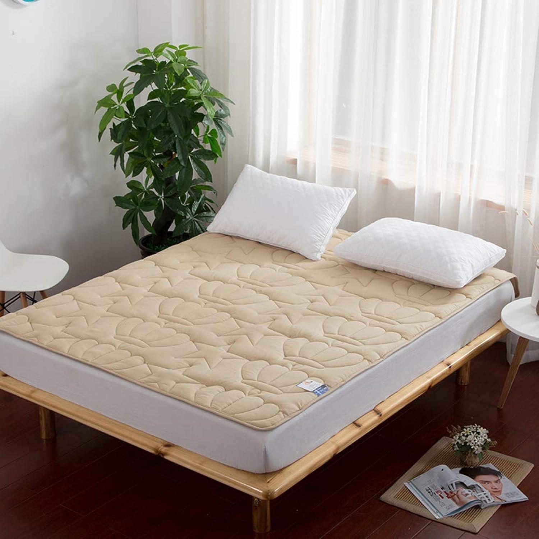 Foldable Tatami Mattress,Hypoallergenic Mattress-Toppers,Dorm Room Soft Non-Slip Solid color Sleeping pad-Light tan 120x200cm(47x79inch)