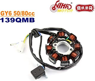 TZ-25 50cc 80cc Stator 8 Pole Magneto Coil GY6 Parts Chinese Scooter 139QMB Motorcycle Engine Spare