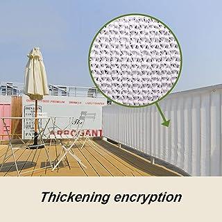 HLMBQ 90% Malla de sombreo (Blanca 4 x 5 m) Malla Ocultación con Engrosamiento de cifrado Resistente y Transpirable Estanque terraza Red de Jardín