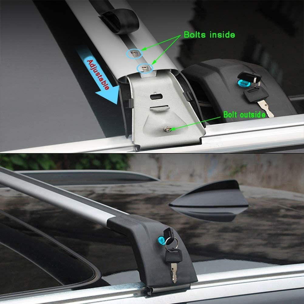 Size : for Mercedes Benz GLC 2016 Mmhot Custom Fit for GLC Cross Rack en Alliage daluminium Toit Bar Toit Cargo Bars GLC Voiture Support /à Bagages Bars