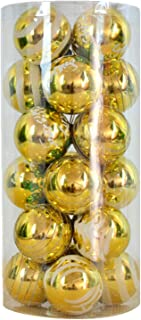 Christmas Tree Baubles, 60mm Christmas Balls Ornaments Plastic Shatterproof Tree Decorations, for Xmas Tree New Year Thank...