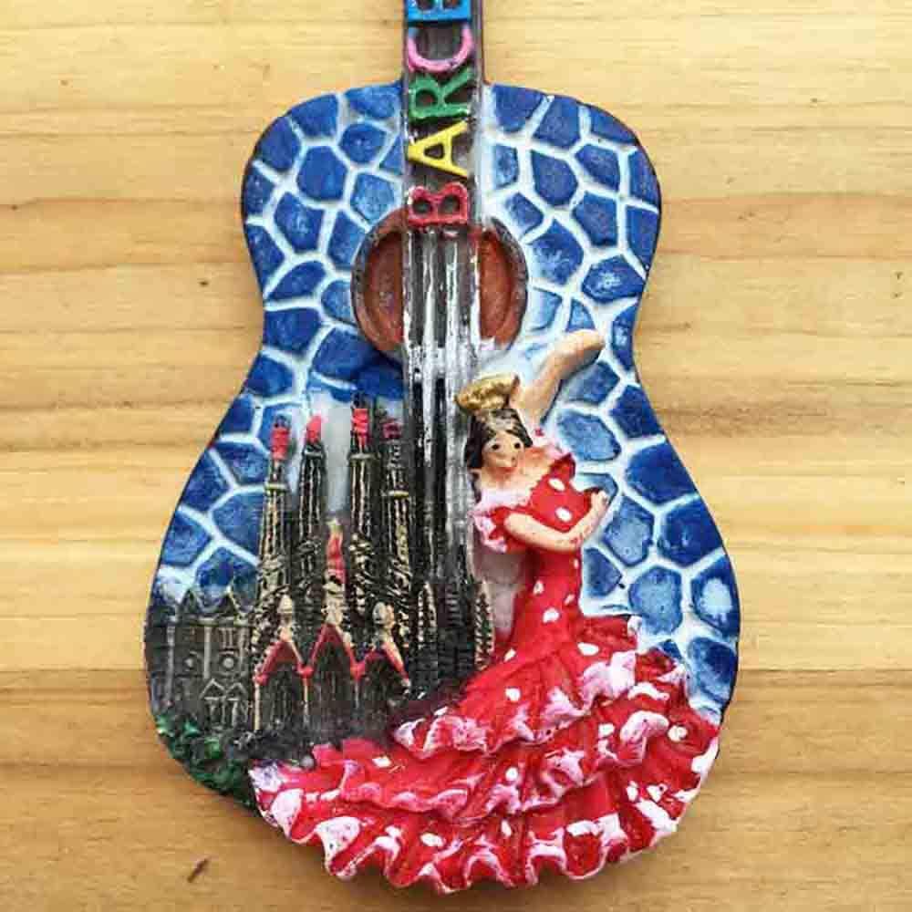 Guitarra 3D Barcelona España Refrigerador Nevera Imán Recuerdos ...