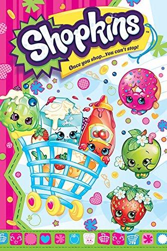 Shopkins Once you Shop Maxi Poster, Wood, Multi-Colour, 91.5x61x0.02
