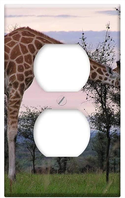 Switch Plate Outlet Cover Giraffe Feeding Murchison Nature Safari
