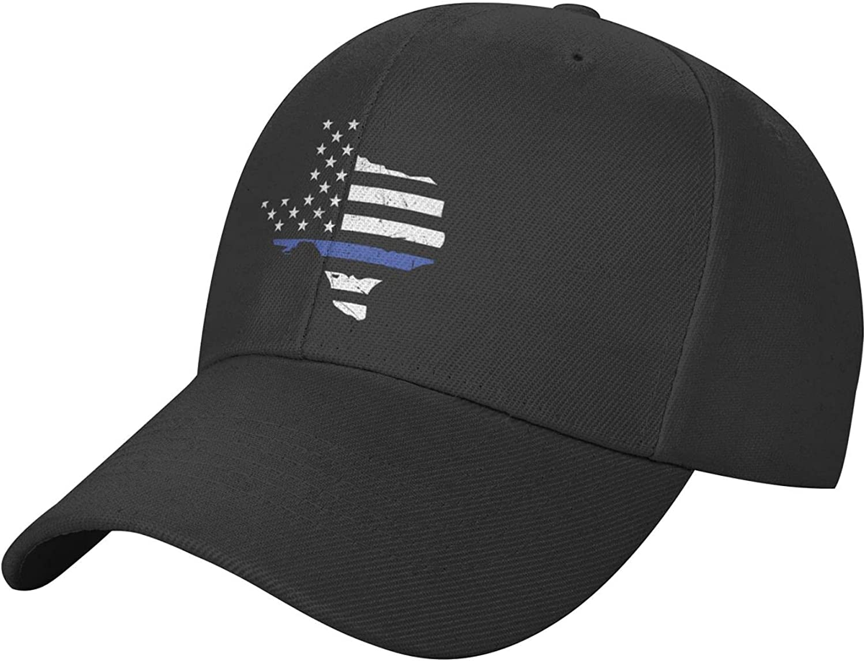 Thin Blue Line Hat Baseball Cap Trucker Hat, Adjustable Dad Hat Snapback Black Sun Hats for Women Men Baseball Cap