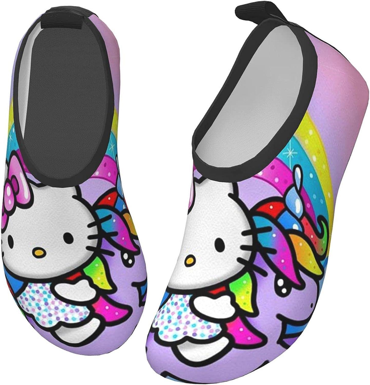 Hello Kitty Toddler Kids Swim Water Shoes Lightweight Barefoot Non-Slip Aqua Socks Beach Swimming Surf Walking for Boys Girls