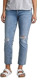 Silver Jeans Co. Women's Avery Curvy Fit High Rise Slim Leg Jeans