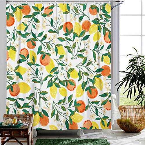Lemon Peach Shower Curtain