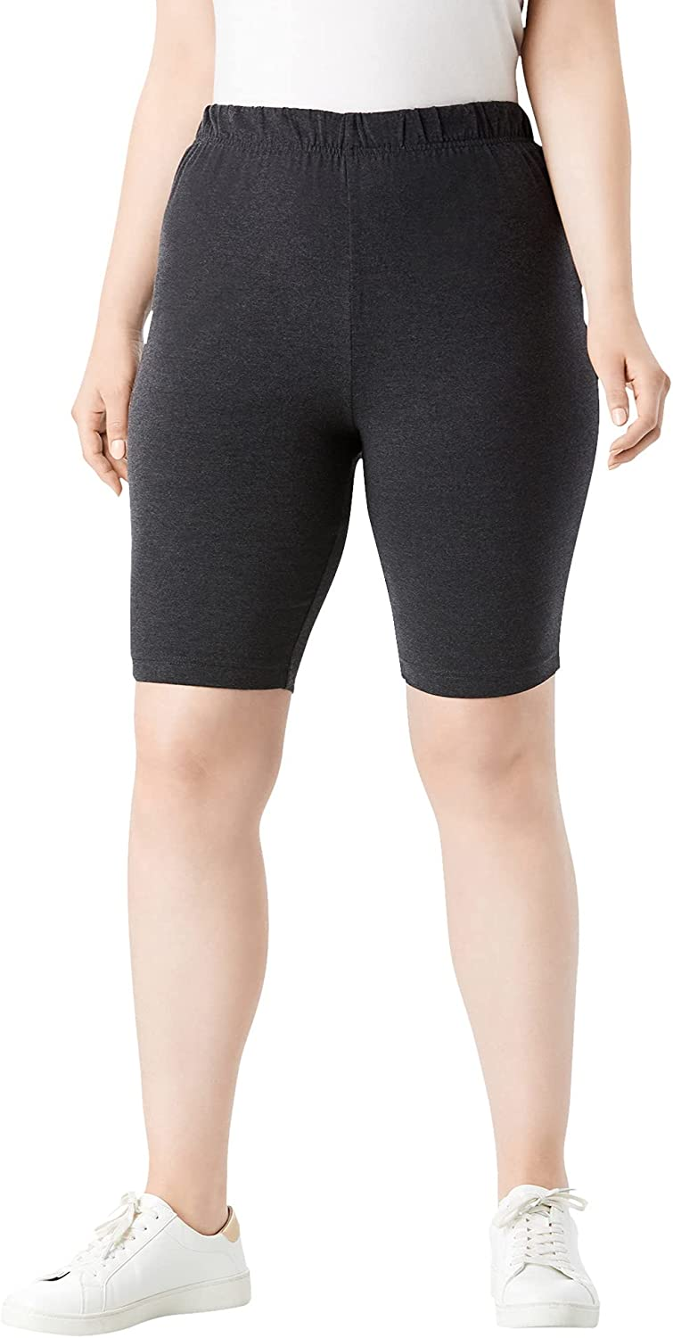 Roamans Women's Finally popular brand Plus Size Essential Bike Indianapolis Mall Cycle Short Stretch Gym