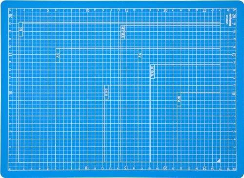 ナカバヤシ カッターマット 折りたたみカッティングマット A4 スカイブルー CTMO-A4SB