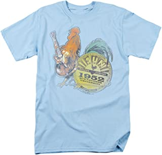 Sun Records Rockin Rooster Blue Adult T-Shirt