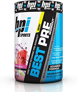 BPI Sports Ketogenic Pre-Workout Supplement – Best Pre-Workout – Carb-Free..