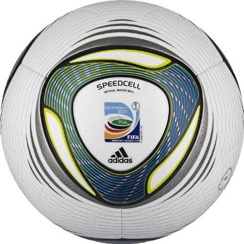 adidas Fußball Speedcell Pro, white/freshs, 5, V42358
