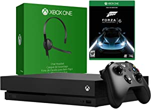 Microsoft Xbox One X 1TB Console with Chat Headset & Forza Motorsport 6 Bundle (Renewed)