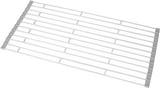 折り畳み水切り 水切りラック HIMETSUYA 錆びない 抗菌 滑り止め まな板置 丸めて 巻き収納 ホワイト Hi-053