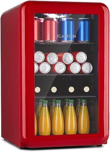 Klarstein PopLife - Réfrigérateur à boissons, design rétro, température : 0-10 ° C, classe d'efficacité énergétique A...