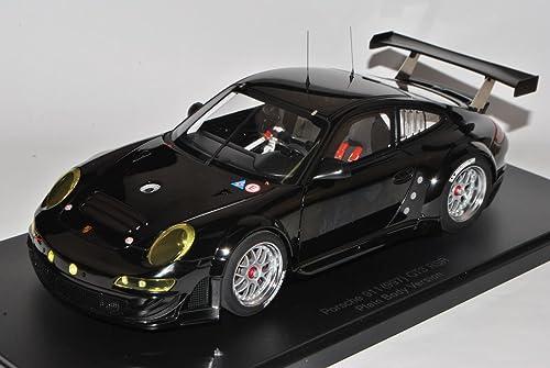 AUTOart Porsche 911 997 GT3 RSR Cup Plain Body Version Schwarz2004-2012 81074 1 18 Modell Auto mit individiuellem Wunschkennzeichen