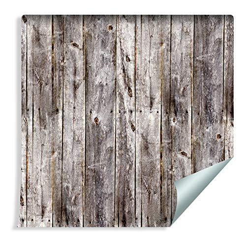 Muralo 37395452 - Papel pintado con láminas de madera verticales, vinilo estilo escandinavo natural