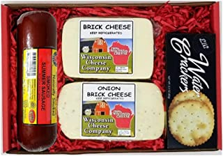Wisconsin Deluxe Brick Cheese Sausage & Cracker Gift Box
